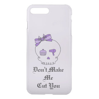 Hair Accessory Skull (Bow Detail Purple w/ Text 2) iPhone 7 Plus Case