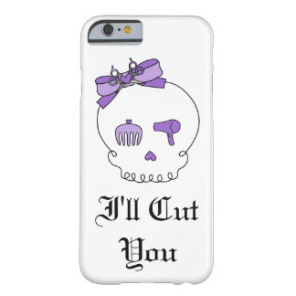Hair Accessory Skull (Bow Detail Purple w/ Text 3) Barely There iPhone 6 Case