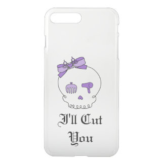 Hair Accessory Skull (Bow Detail Purple w/ Text 3) iPhone 7 Plus Case