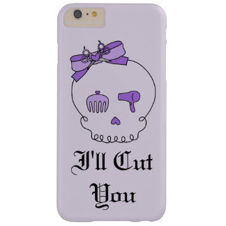 Hair Accessory Skull (Bow Detail Purple w/ Text 4) Barely There iPhone 6 Plus Case