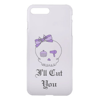 Hair Accessory Skull (Bow Detail Purple w/ Text 4) iPhone 7 Plus Case