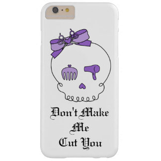 Hair Accessory Skull (Bow Detail Purple w/ Text) Barely There iPhone 6 Plus Case
