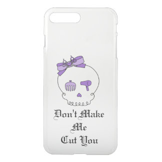 Hair Accessory Skull (Bow Detail Purple w/ Text) iPhone 7 Plus Case