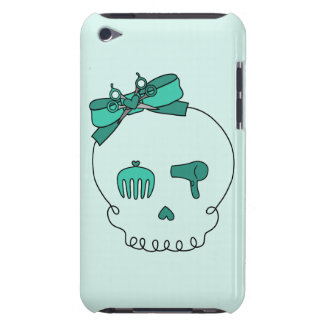 Hair Accessory Skull (Bow Detail - Turquoise #2) iPod Case-Mate Case