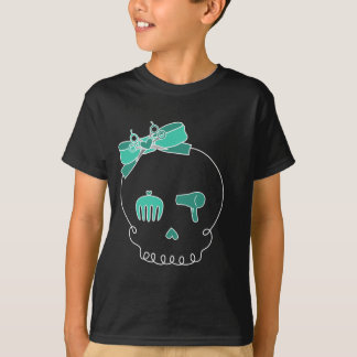 Hair Accessory Skull (Bow Detail - Turquoise) T-Shirt