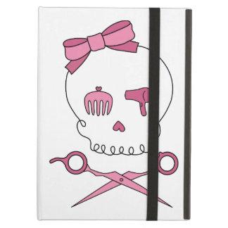 Hair Accessory Skull & Scissor Crossbones (Pink) iPad Air Cover