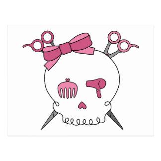 Hair Accessory Skull (Scissor Crossbones) Postcard