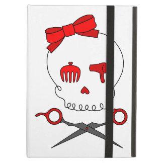 Hair Accessory Skull & Scissor Crossbones (Red) Case For iPad Air