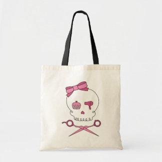 Hair Accessory Skull & Scissor Crossbones Tote Bag