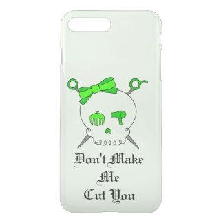 Hair Accessory Skull & Scissors (Lime Green #4) iPhone 7 Plus Case
