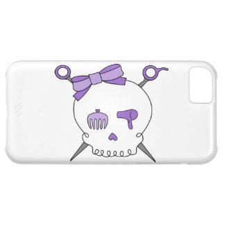 Hair Accessory Skull & Scissors (Purple) iPhone 5C Covers