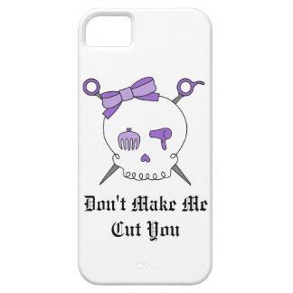 Hair Accessory Skull Scissors Purple iPhone 5 Cover
