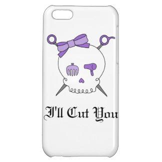 Hair Accessory Skull Scissors Purple iPhone 5C Cover
