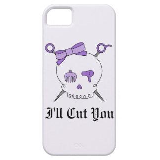 Hair Accessory Skull & Scissors (Purple Version 2) iPhone 5 Case