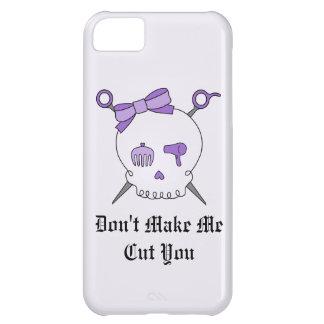 Hair Accessory Skull & Scissors (Purple Version 2) iPhone 5C Case