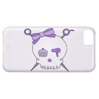 Hair Accessory Skull & Scissors (Purple Version 2) iPhone 5C Cases