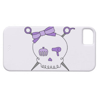 Hair Accessory Skull & Scissors (Purple Version 2) iPhone 5 Cover