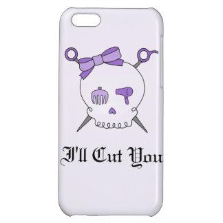 Hair Accessory Skull Scissors Purple Version 2 Case For iPhone 5C