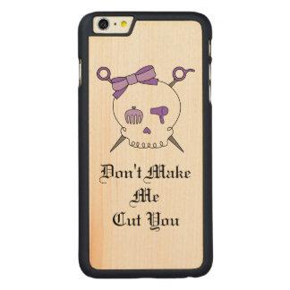 Hair Accessory Skull & Scissors (Purple Version 3) iPhone 6 Plus Case