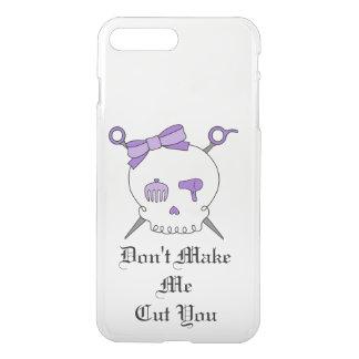 Hair Accessory Skull & Scissors (Purple Version 3) iPhone 7 Plus Case
