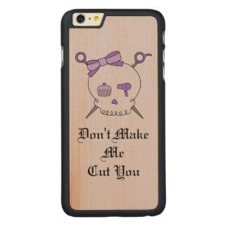 Hair Accessory Skull & Scissors (Purple Version 4) iPhone 6 Plus Case