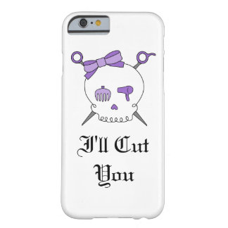 Hair Accessory Skull & Scissors (Purple Version 5) Barely There iPhone 6 Case