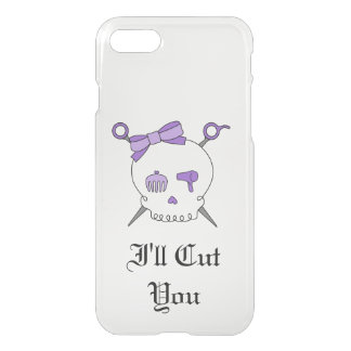 Hair Accessory Skull & Scissors (Purple Version 5) iPhone 7 Case