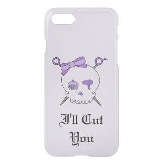 Hair Accessory Skull & Scissors (Purple Version 6) iPhone 7 Case