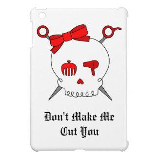 Hair Accessory Skull & Scissors (Red) iPad Mini Cases