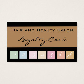 Hair and Beauty Salon Loyalty Card