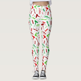Hair and Beauty Tools - Holiday Colors Leggings
