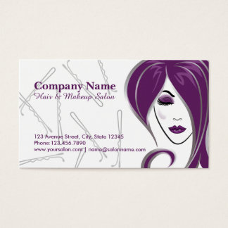 Hair and makeup salon appointment business cards