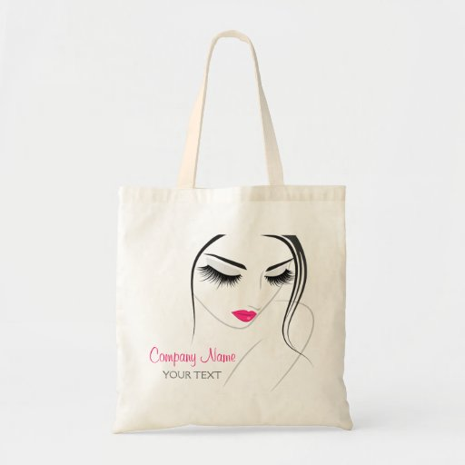 Hair & Beauty salon female lashes Tote Bags