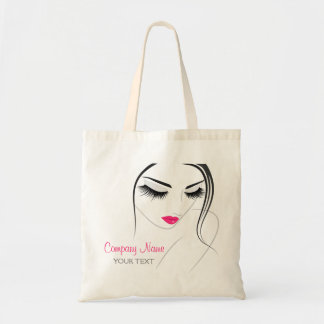 Hair & Beauty salon female lashes Budget Tote Bag
