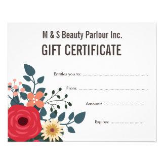 Hair Beauty Salon Gift Certificate Template 11.5 Cm X 14 Cm Flyer