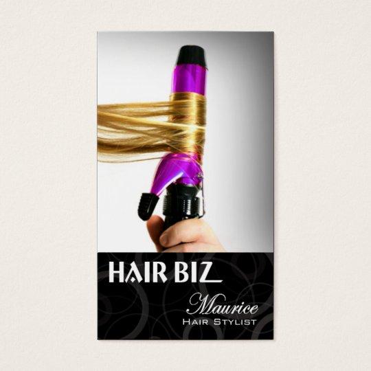 Hair Biz - Hair Stylist Beauty Salon Spa Friseur Business Card