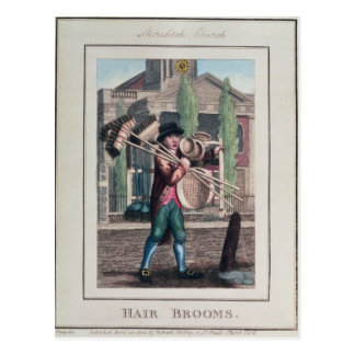 Hair Brooms, Shoreditch Church Postcard