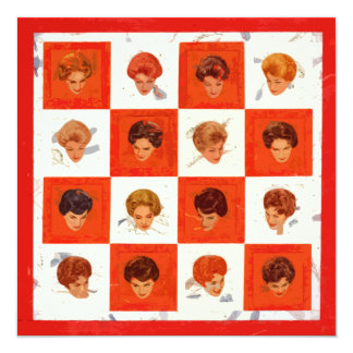 Hair Color Bingo 13 Cm X 13 Cm Square Invitation Card