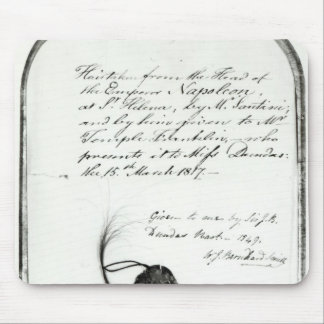 Hair cut from the head of Emperor Napoleon Mouse Mat