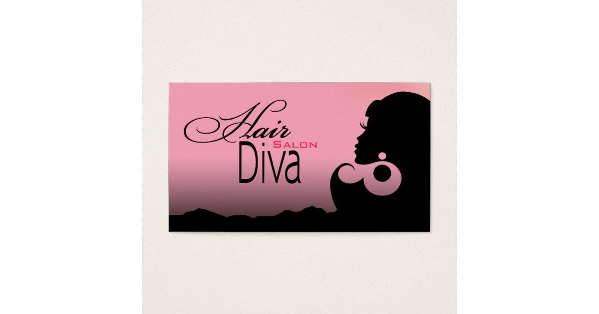 Hair Diva - Beauty Salon Beautician Hair Stylist Business Card ...