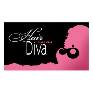 Hair Diva - Beauty Salon Beautician Hair Stylist Business Card Templates