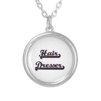 Hair Dresser Classic Job Design Round Pendant Necklace