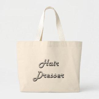 Hair Dresser Classic Job Design Jumbo Tote Bag