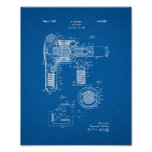Hair Drier Patent - Blueprint Poster