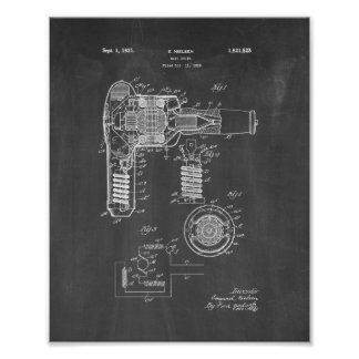 Hair Drier Patent - Chalkboard Poster