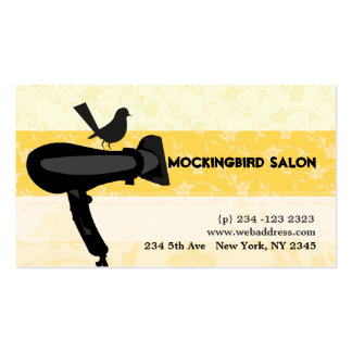 Hair Dryer Mocking Bird Illustration Appointment Pack Of Standard Business Cards