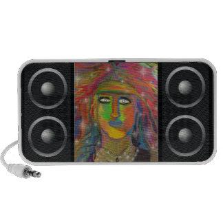 Hair God Digital Art Portable Speaker