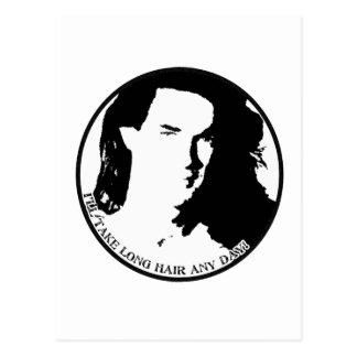 hair guy postcard