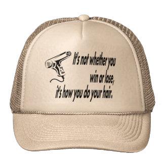 hair humor cap
