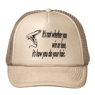 hair humor trucker hats